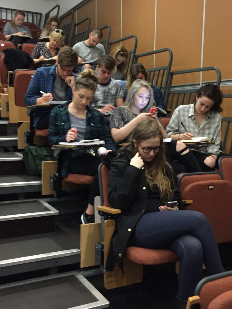 Falmouth University Students in a criticism workshop by Mark Fisher, author of How to Write About Theatre