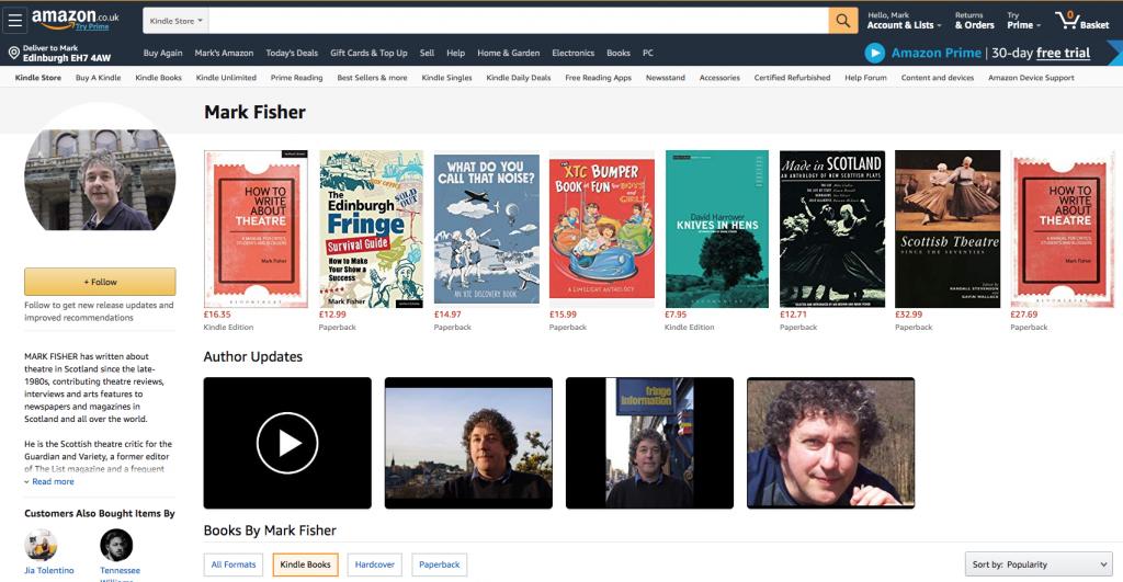 Mark Fisher on Amazon
